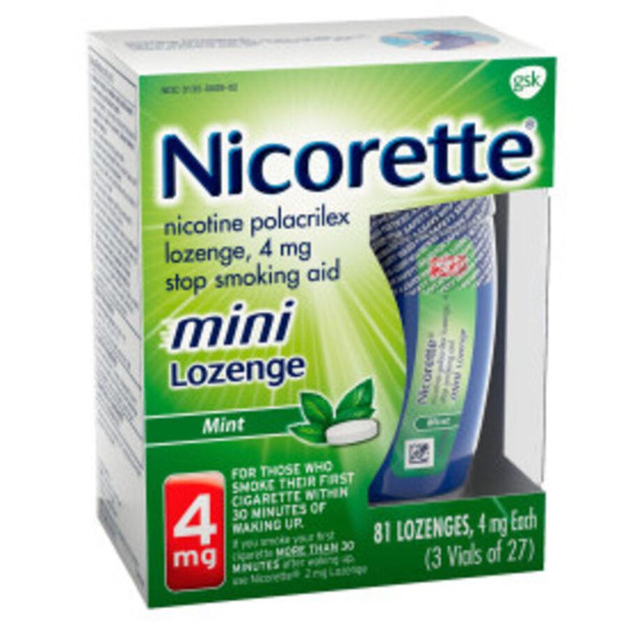 Nicorette Nicotine Lozenges, Mint, 4mg, 81 ct, , large image number 8