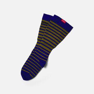 VIM & VIGR Nylon Compression Socks, Falling Stripe, Blue and Moss, 30-40 mmHg