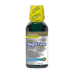 GoodSense® NightTime Severe Cold & Flu Max Strength 12 fl oz