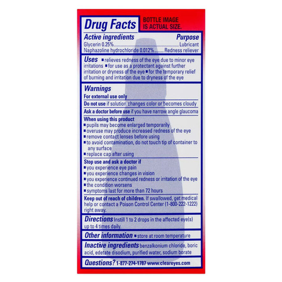 Clear Eyes Red Relief Drops, .5 oz, , large image number 1