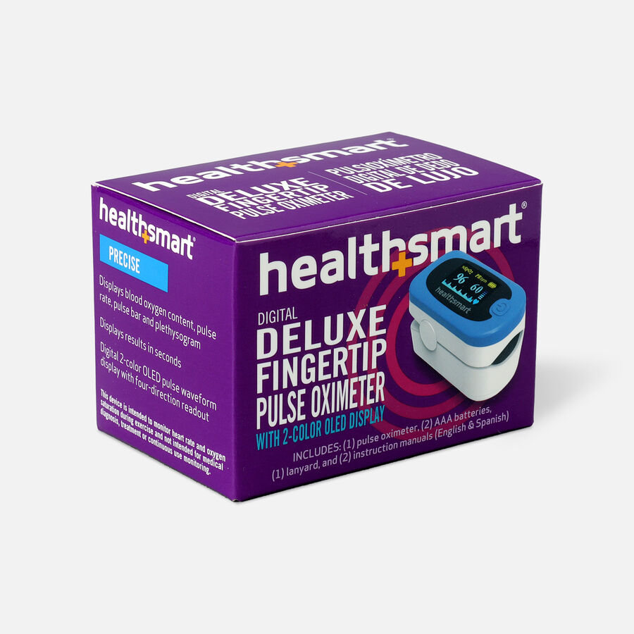 HealthSmart Pulse Oximeter Deluxe with 2-Color Display, , large image number 3