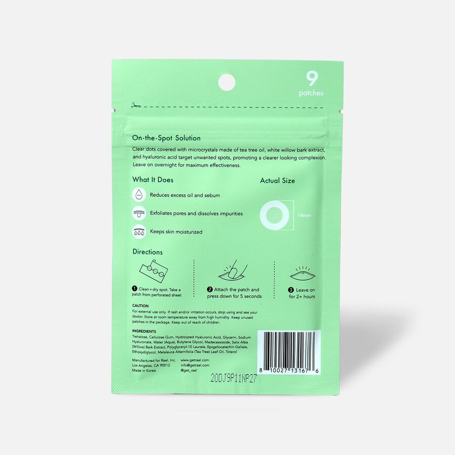 Rael Beauty Miracle Patch Microcrystal Spot Dot - 9ct, , large image number 1