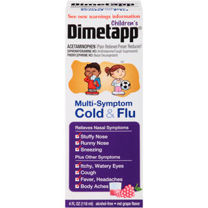 Children's Dimetapp Multi-Symptom Cold & Flu, Grape, 4 oz.