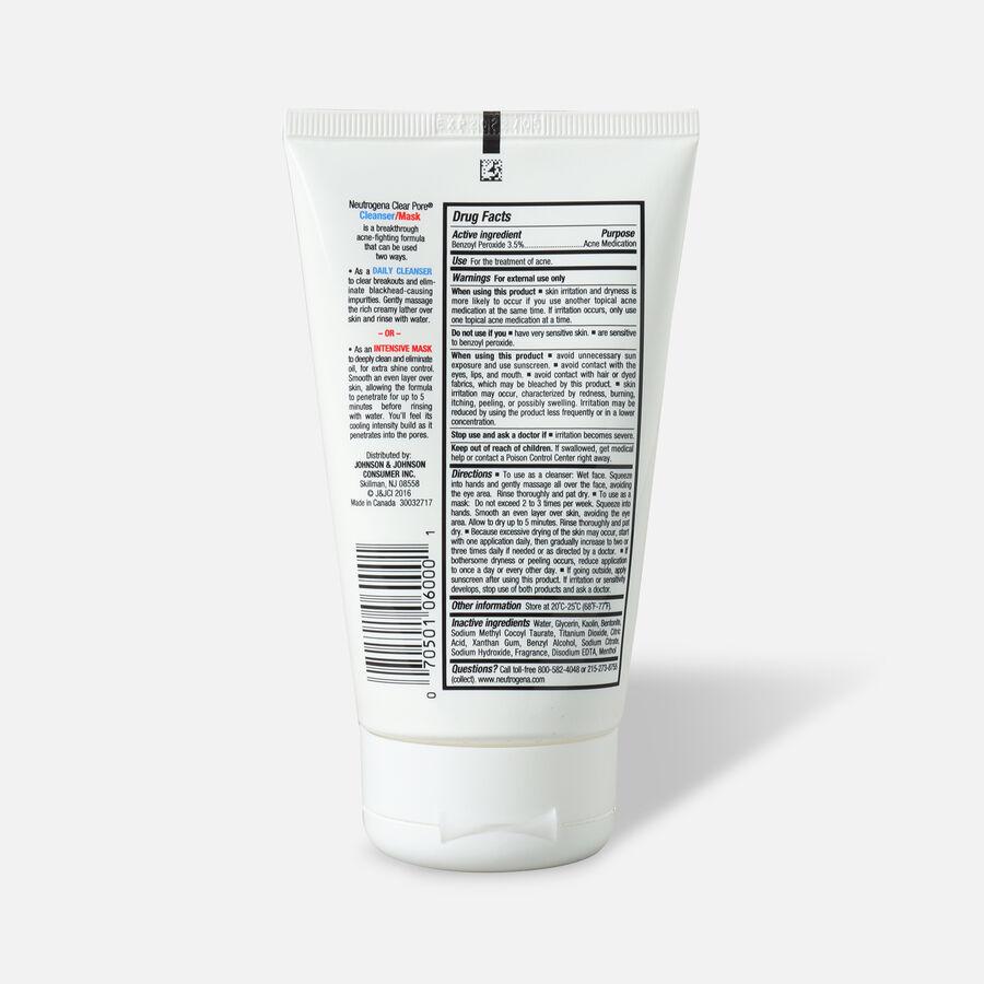 Neutrogena Clear Pore Cleanser / Mask, 4.2oz, , large image number 1