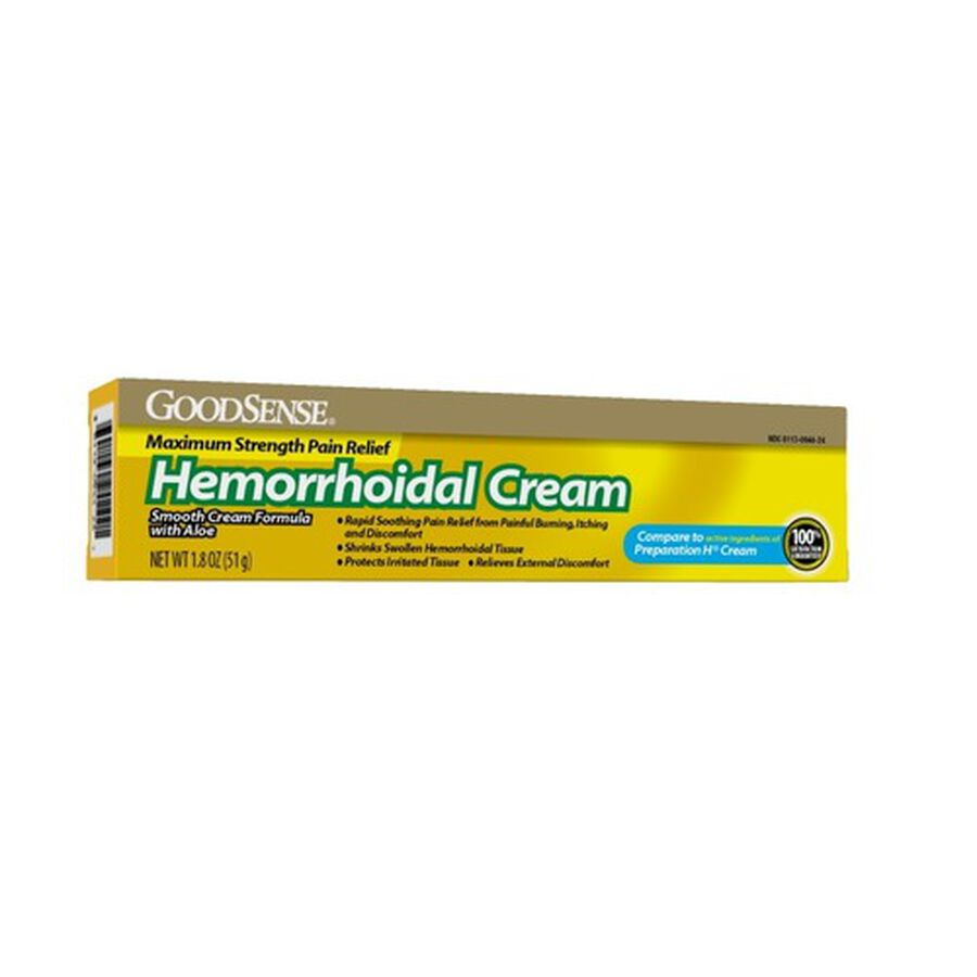 GoodSense® Hemorrhodial Cream Max Strength Pain Relief, 1.8 oz, , large image number 0
