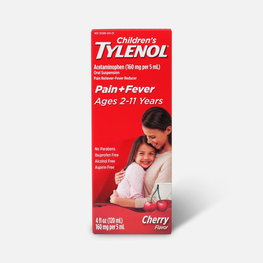 Children's Tylenol Fever Reducer & Pain Reliever, Ages 2-11, Cherry Blast, 4 fl oz, , large image number 0
