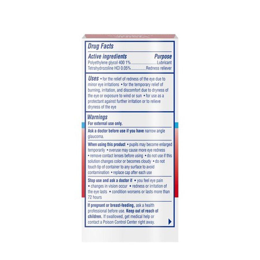 Visine Red Eye Hydrating Comfort Lubricating Eye Drops, 0.5 fl. oz, , large image number 7