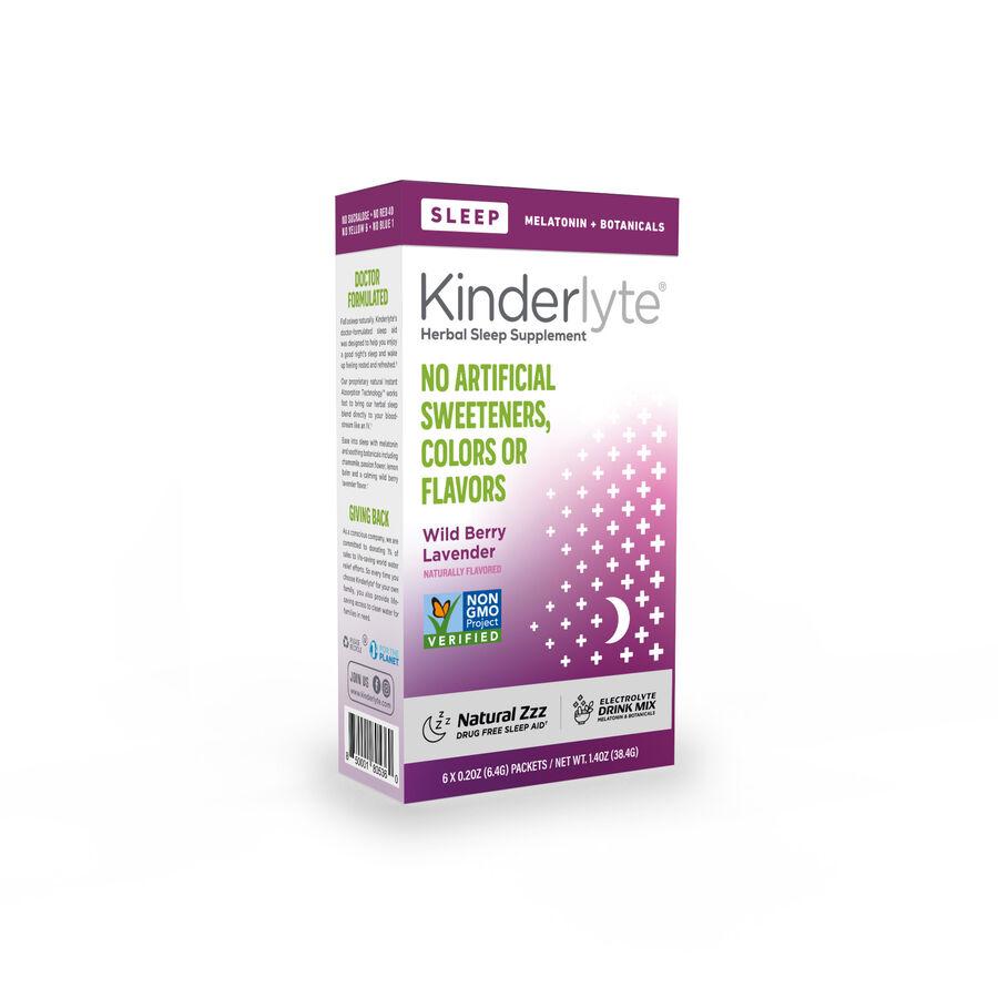 Kinderlyte Herbal Sleep Supplement Powder Wild Berry Lavender, 6 Count, , large image number 1