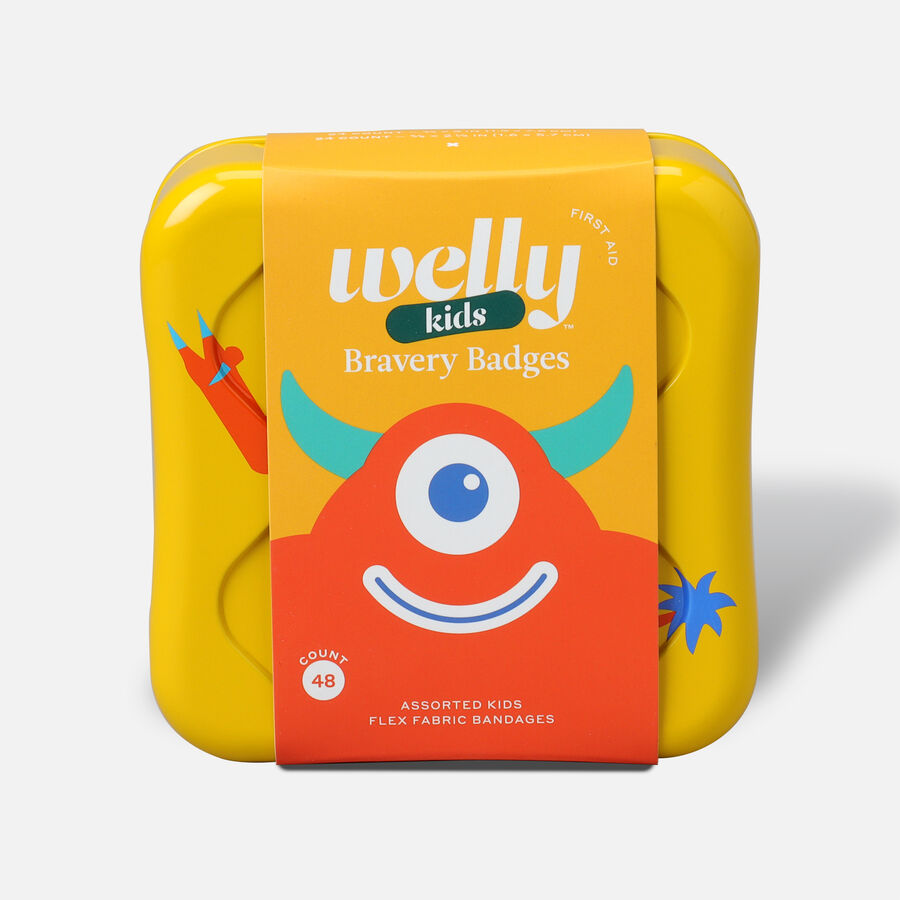 Welly Bravery Badges Assorted Kids Monster Flex Fabric Bandages - 48ct, , large image number 0