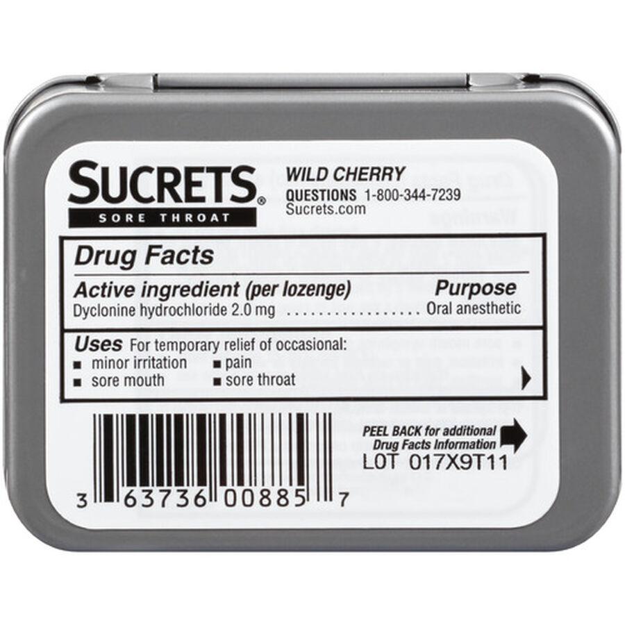 Sucrets Wild Cherry Sore Throat Lozenges, 18 ct., , large image number 1