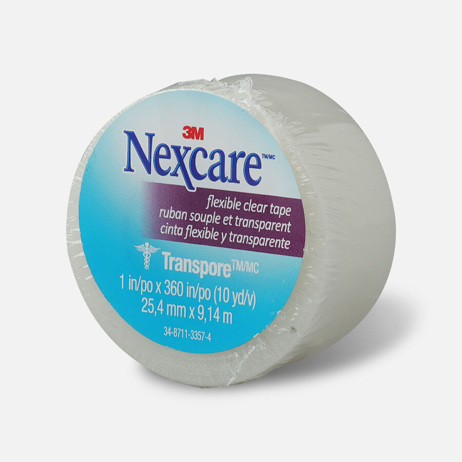 """Nexcare Flexible Clear Tape, 1"""" x 10 yds.- 1ct, , large image number 2"""