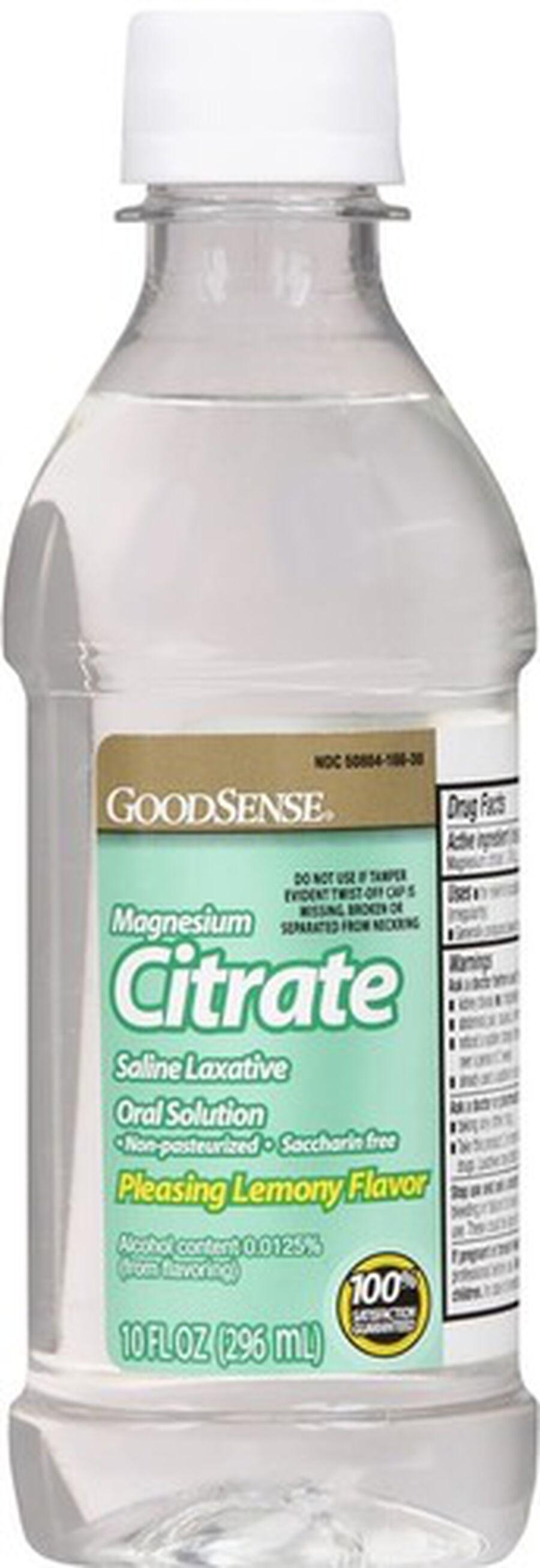 GoodSense® Cirtrate Magneisum Dye- Free Lemon, 10 oz, , large image number 0