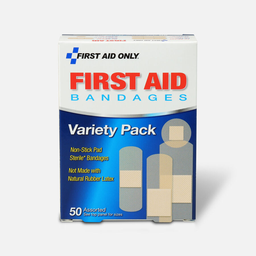 First Aid Only Sheer Strips Bandages, Assorted Sizes - 50ct, , large image number 0