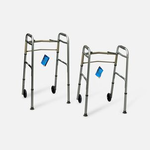 """Carex Adult Dual Paddle Walker 5"""" Wheels and Glides"""