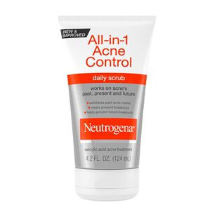 Neutrogena All-in-1 Acne Control Daily Scrub, 4.2oz