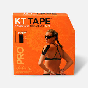 KT Tape Pro Jumbo Black Tape, Uncut, 125 feet