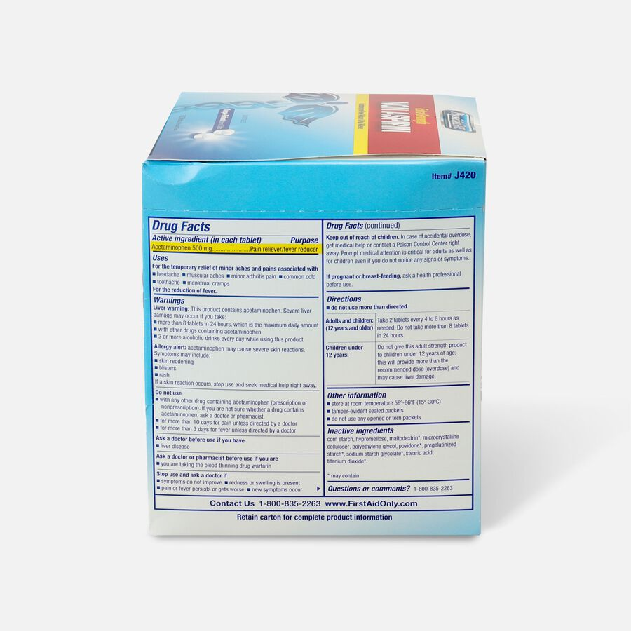 PhysiciansCare Extra Strength Non-Aspirin, 500/Box, , large image number 1