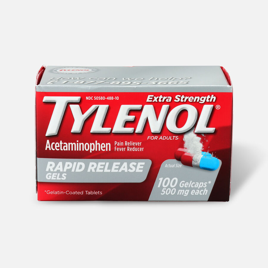 Tylenol Extra Strength Rapid Release Gels, 100 ct, , large image number 0