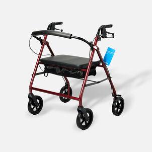 "ProBasics Aluminum Bariatric Rollator, 8"" Wheels, Burgundy, 400 lb Weight Capacity"