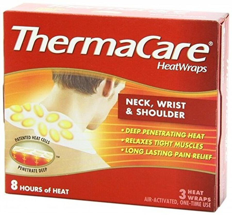 Thermacare Air Activated Heat Wraps, Neck, Wrist and Shoulder (Box of 3), , large image number 0