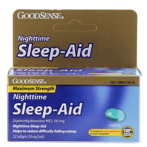 GoodSense® Sleep Aid Maximum Strength Softgel 50 MG , 32 ct