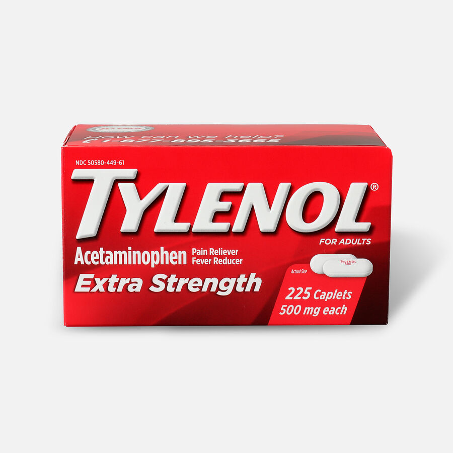 Tylenol Extra Strength Caplets, 225 ct, , large image number 0