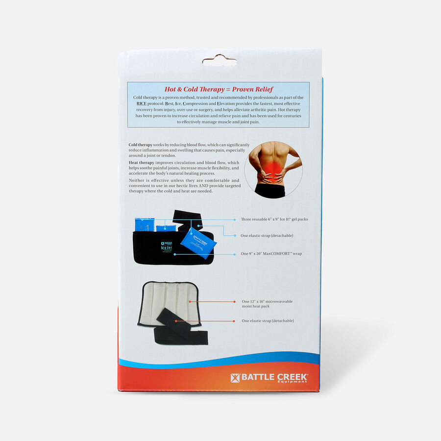 Battle Creek Back Pain Kit with Moist Heat and Cold Therapy, , large image number 1