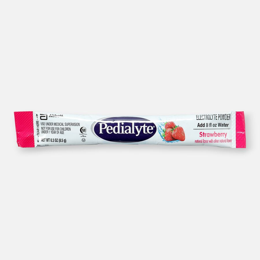 Pedialyte® Electrolyte Powder Pack, Punch, Grape, Apple and Strawberry Flavor Variety, 0.3 oz, 8ct, , large image number 0
