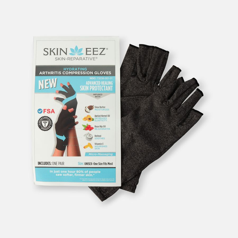 SKINEEZ Hydrating Unisex Compression Gloves - Gray, , large image number 0