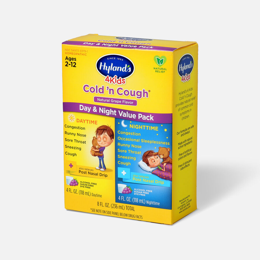 Hyland's 4 Kids Cold and Cough, Day and Night Value Pack, Grape, , large image number 2