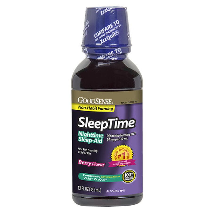 GoodSense® Sleep Time Liquid Berry, 12 oz, , large image number 0