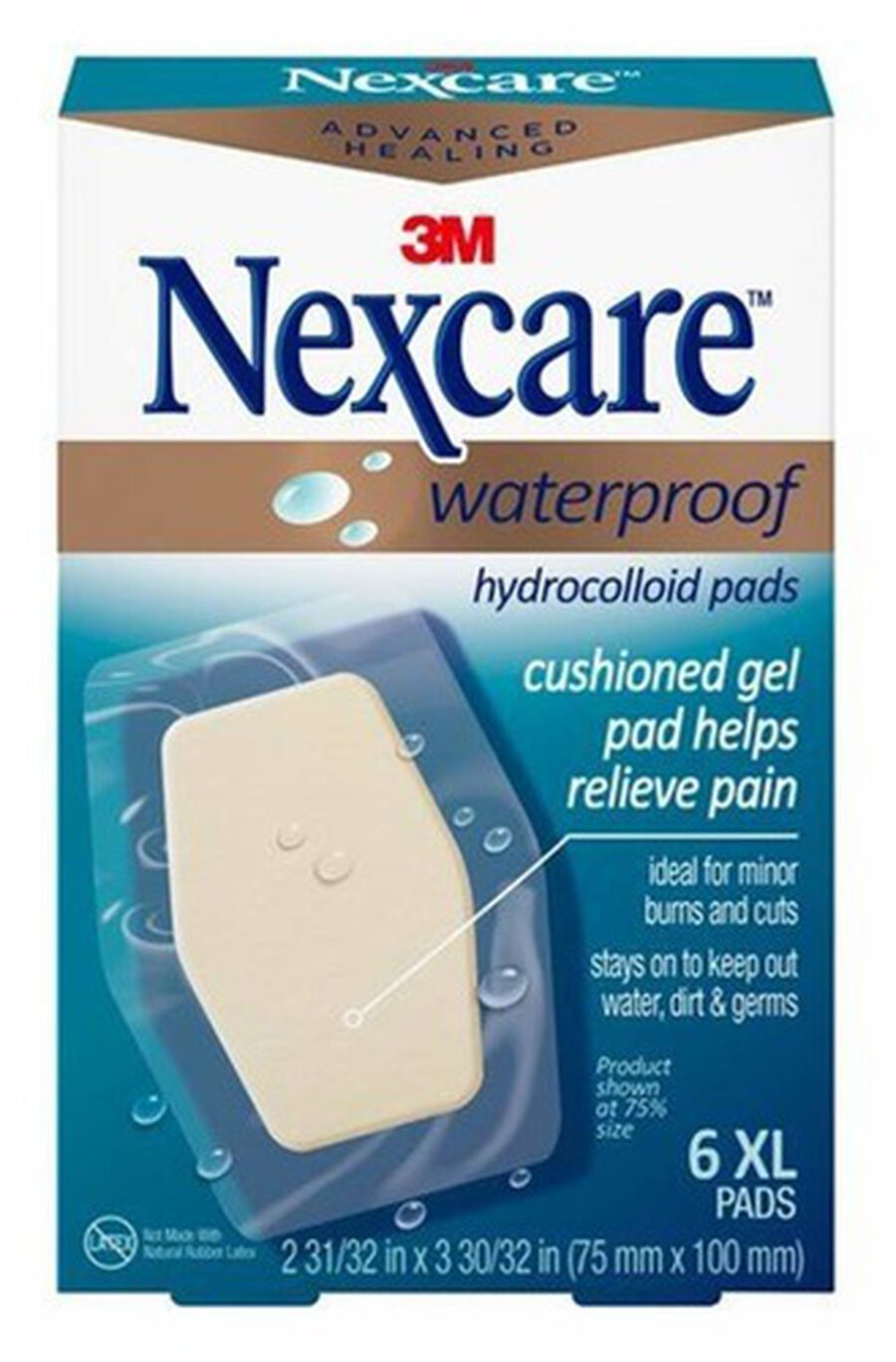 Nexcare Advanced Healing Waterproof Hydrocolloid Pads XL - 6ct, , large image number 0