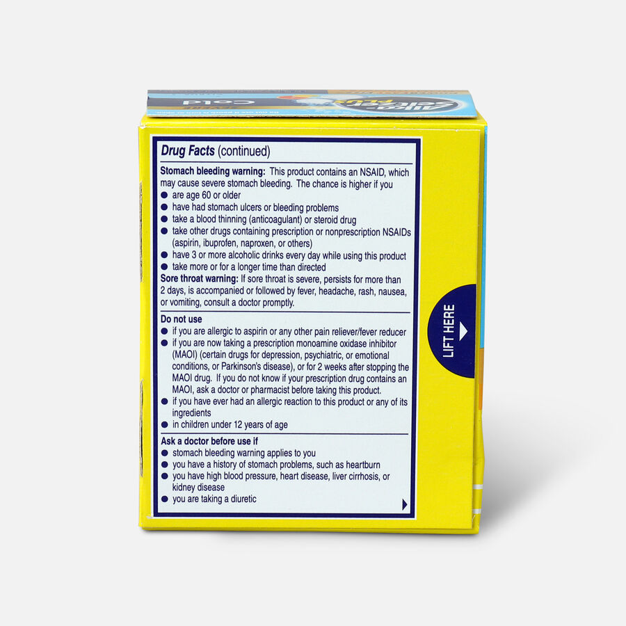 Alka-Seltzer Plus Severe Cold Powerfast Fizz Effervescent Tablets, Citrus, 20 Count, , large image number 1
