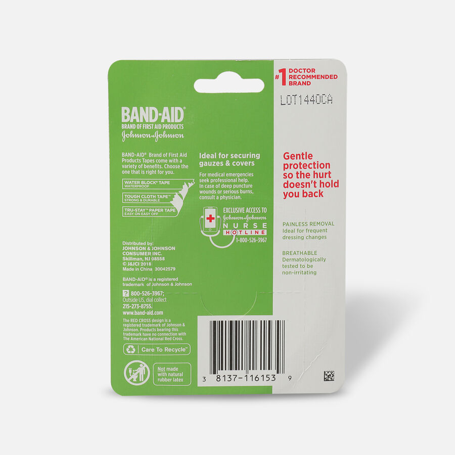 """BAND-AID® HURT-FREE® Paper Tape, 1"""" x 10yds - 1 roll, , large image number 1"""