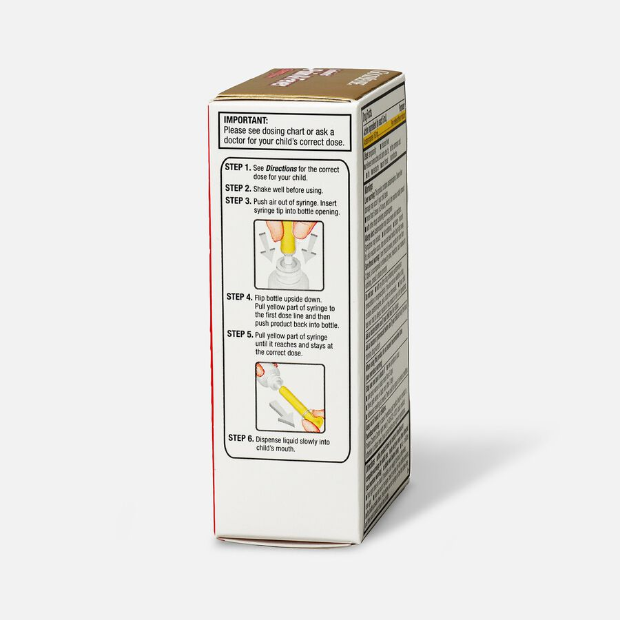 GoodSense® Infants' Pain & Fever Relief 160 mg, Cherry Flavor, 1 fl oz, , large image number 2