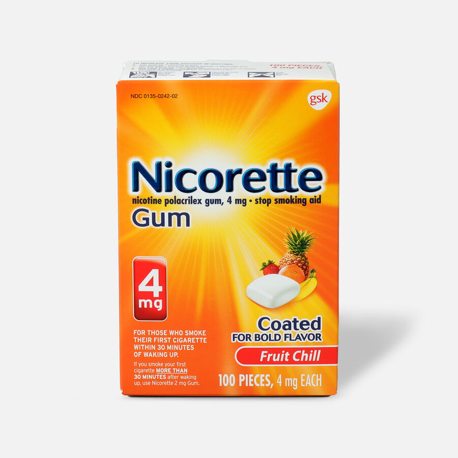Nicorette Gum Fruit Chill, 4mg, 100 ct, , large image number 0