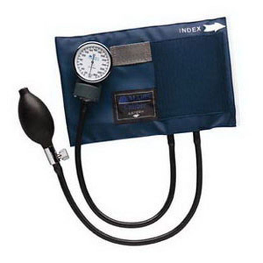Adult CALIBER Aneroid Sphygmomanometers with Blue Nylon Cuff, 1 ea, , large image number 3