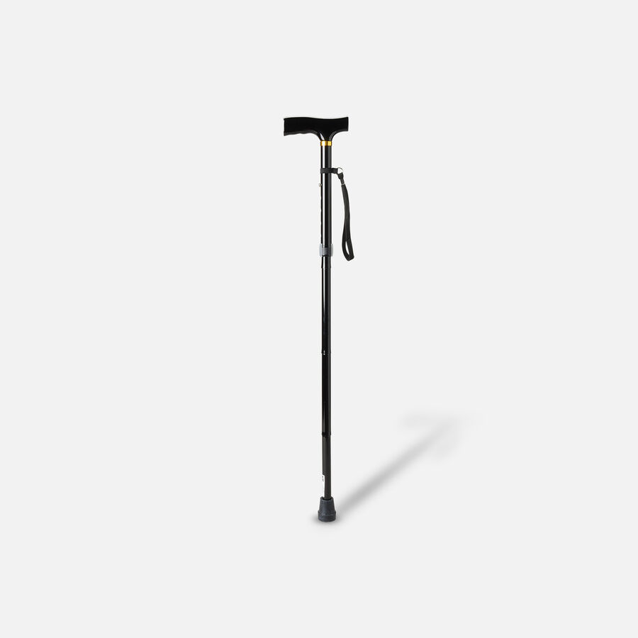 Invacare Adjustable Black Folding Cane, 1 ea, , large image number 2