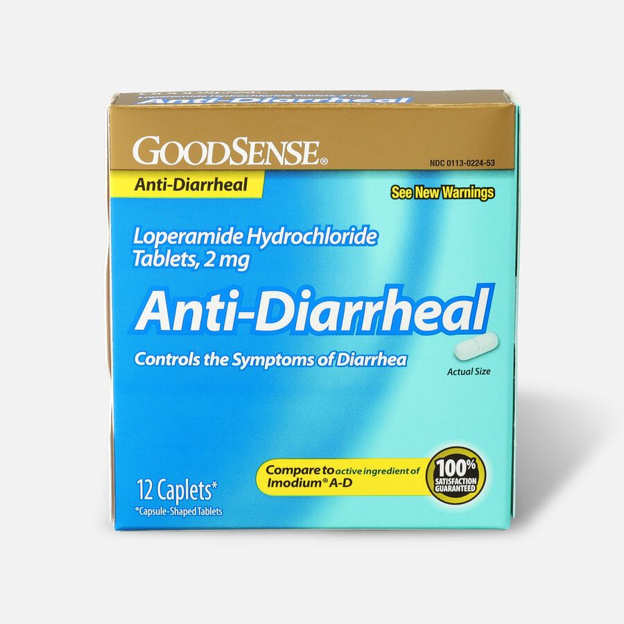 GoodSense® Loperamide HCl 2 mg Anti-Diarrheal Tablets, 12 ct, , large image number 0