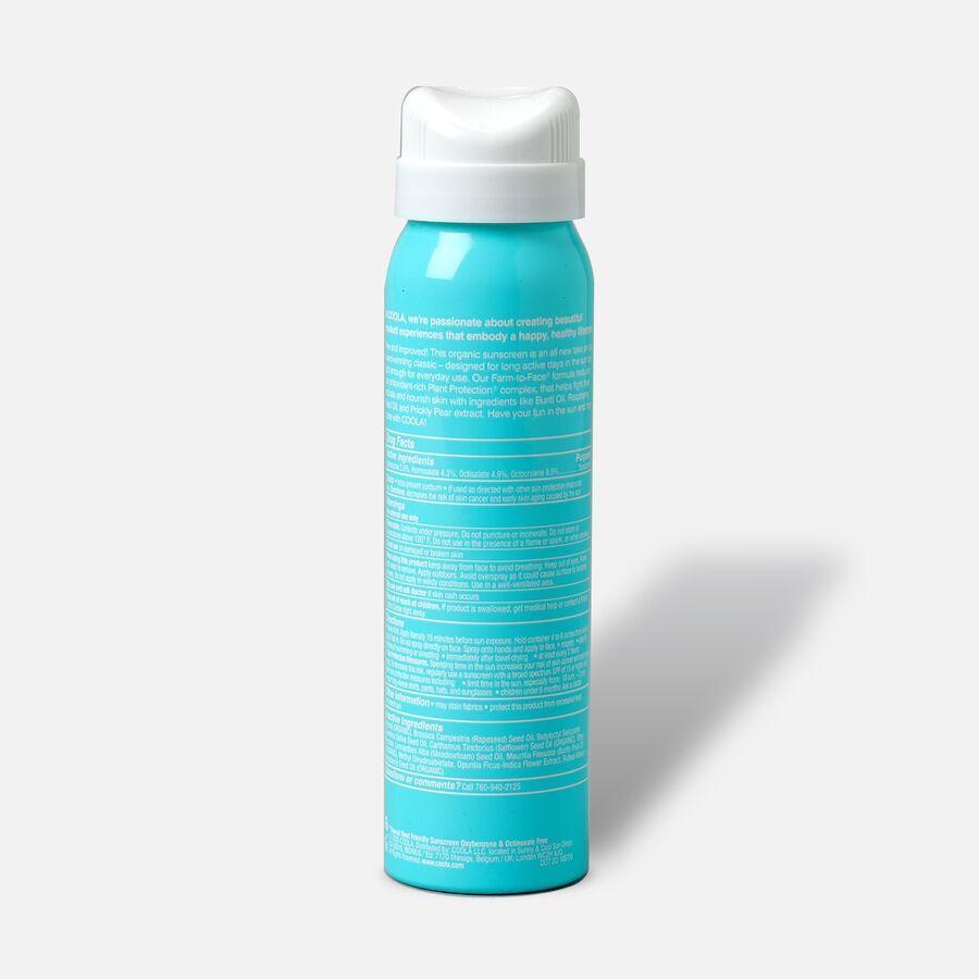 Coola Classic Body Organic Sunscreen Spray SPF 50, Unscented - Travel Size, , large image number 1