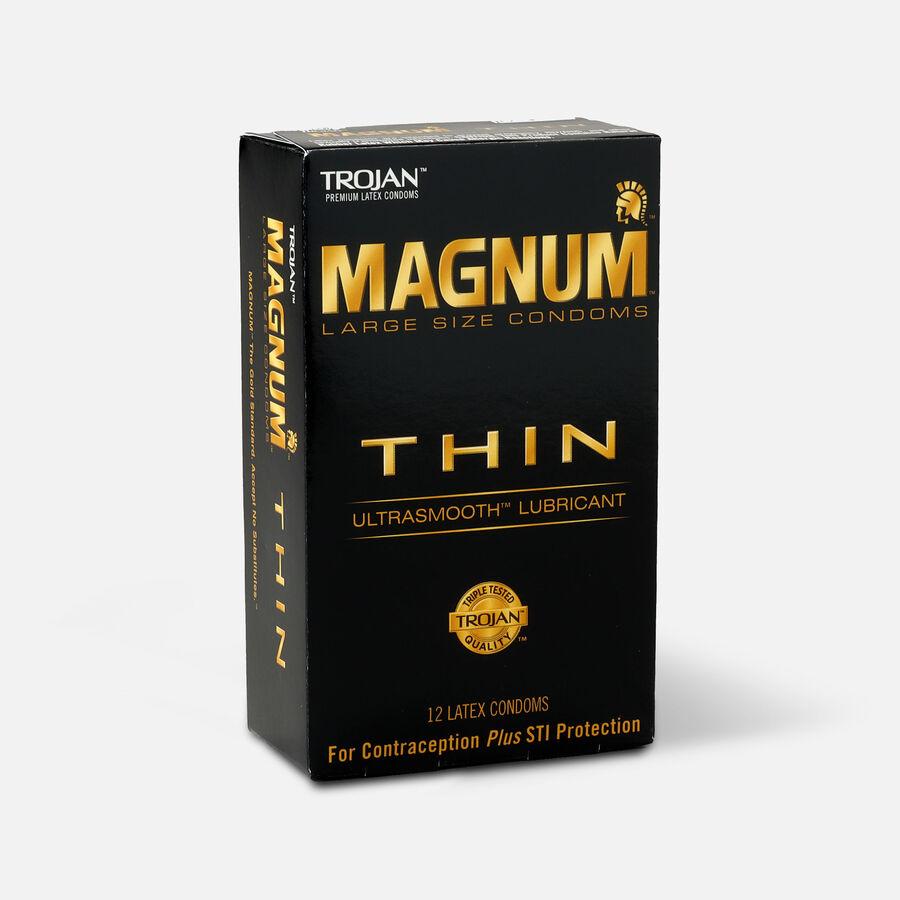 Trojan Condoms Magnum Lubricated Latex Thin, Large 12 ea, , large image number 2