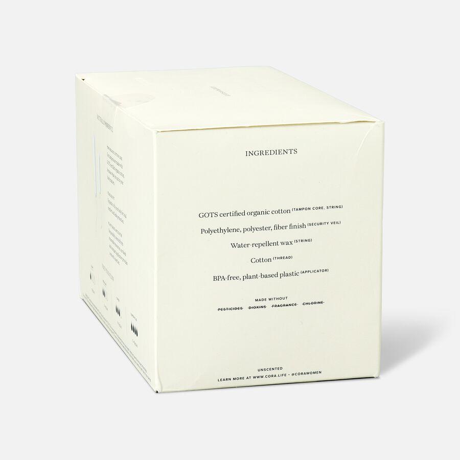 Cora Organic Cotton Applicator Tampons, Light/Regular, 32ct, , large image number 4