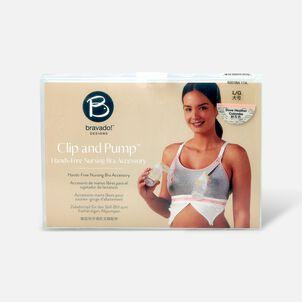 Clip and Pump Hands-Free Nursing Bra Accessory, Dove Heather