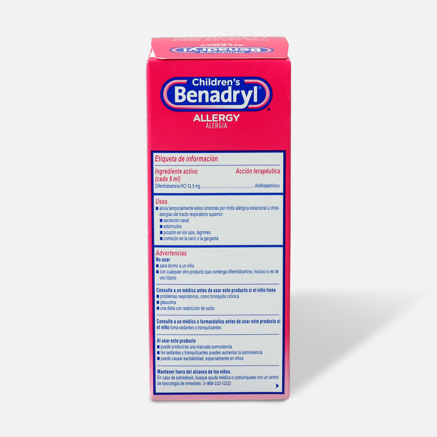 Children's Benadryl Cherry flavored Allergy 4 fl oz, , large image number 1