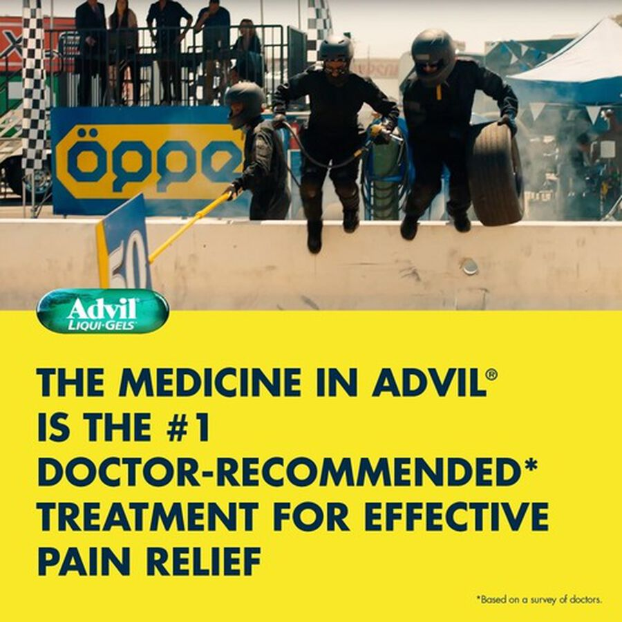 Advil Pain Reliever Fever Reducer Liquid Gels, 160 ct, , large image number 4
