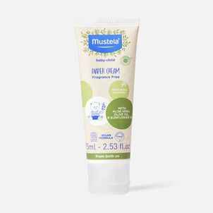 Mustela Organic Diaper Cream with Olive Oil and Aloe, 2.54 oz