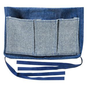 Mabis Walker Pouch, Multi-Pocket Carry-All Bag, Blue Denim