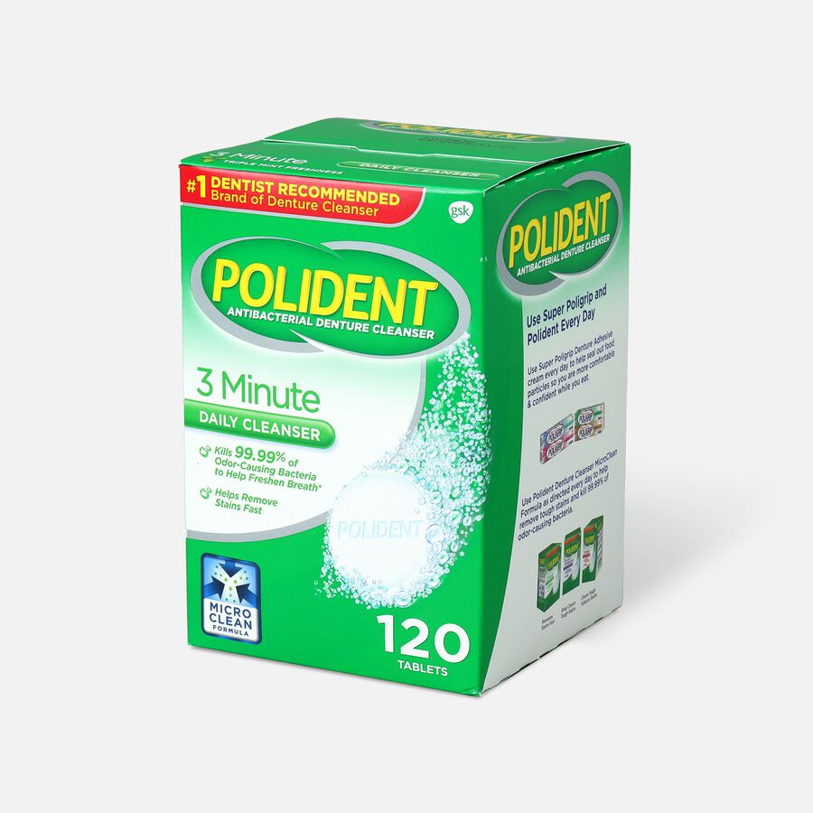 Polident 3 Minute Antibacterial Denture Cleanser Tablets - 120ct., , large image number 2