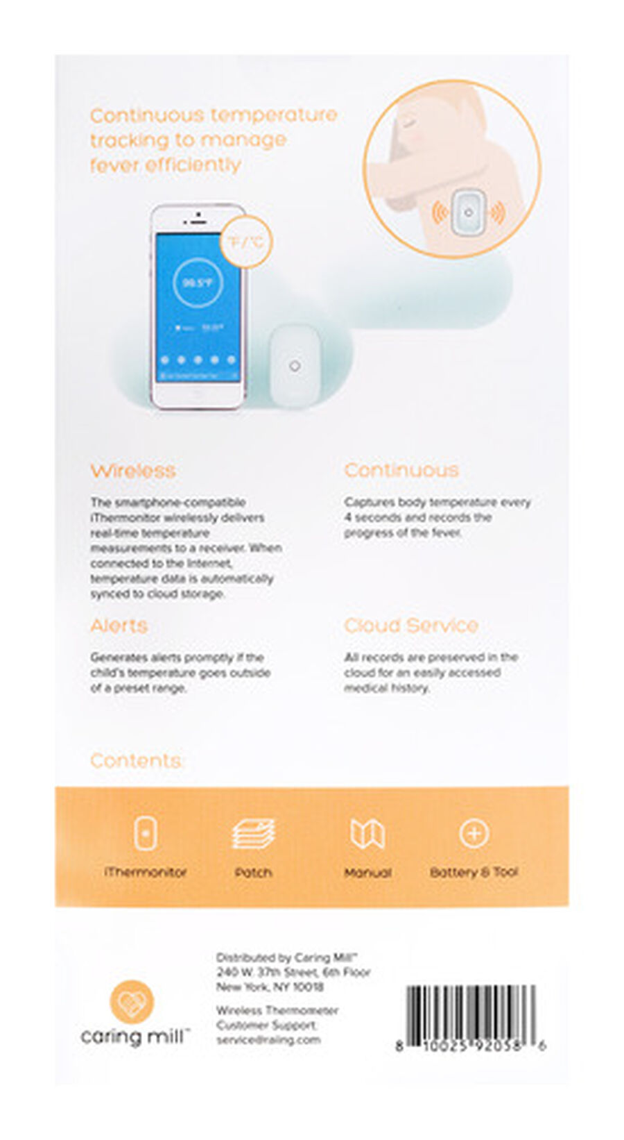 Caring Mill® Wireless iThermonitor, , large image number 4