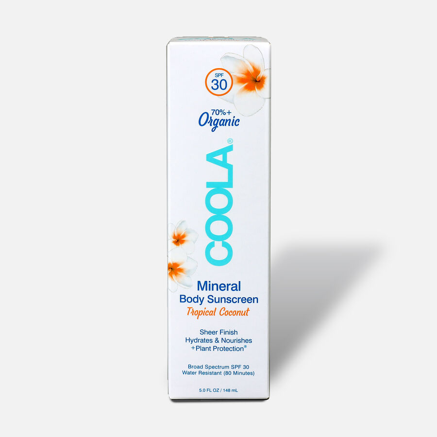 Coola Mineral Body Organic Sunscreen Lotion SPF 30 Tropical Coconut, 5oz., , large image number 1